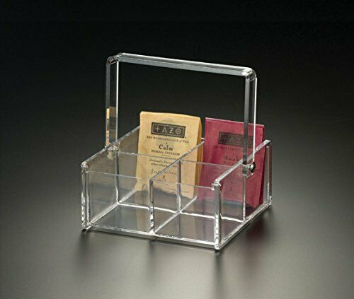 4 Compartment Tea Bag Caddy (Acrylic)