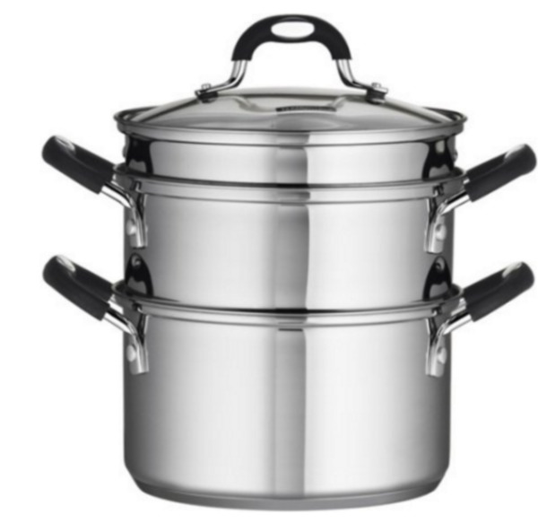 1810 Pot Stainless Steel 4-Piece 3-Quart SteamerDouble-Boiler with Glass Lid