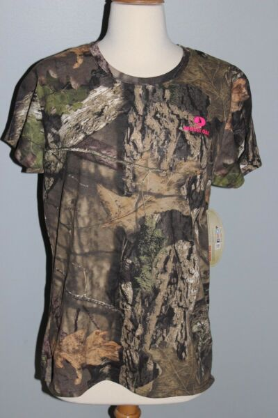 New Ladies MOSSY OAK Break Up Country Short Sleeve Shirt Womens M L XL 2XL Camo