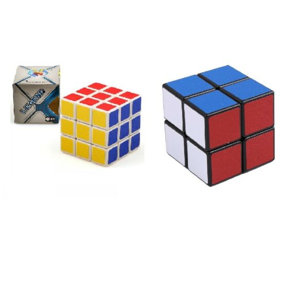 2er Set Magic Cube Zauberwürfel 2x2 3x3 Spielwürfel Puzzle