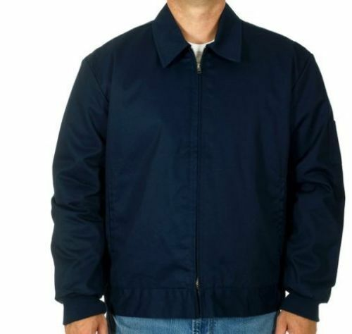 Mens Work Mechanic Jacket Style Zip Jacket Navy Work Wear Brand New
