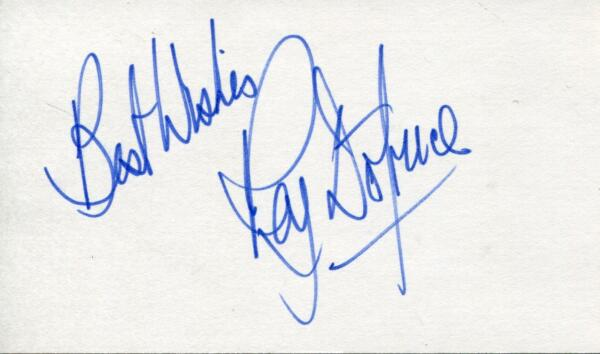 RAY DOTRICE ACTOR IN AMADEUS & GAME OF THRONES SIGNED CARD AUTOGRAPH
