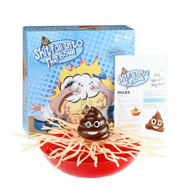 Family Game poop Fall Into The Bowl Toy Best Xmas Birthday Gift Fun Christmas