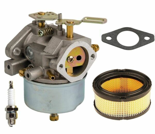 Carburetor With Air filter Kit for Tecumseh 632370A HM100 HMSK100 Snow Blower