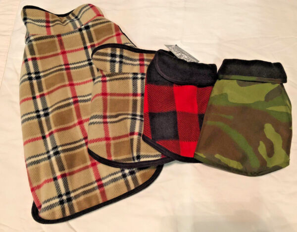 NEW All Star Dogs Reversible Fleece Dog Coat Various Sizes and Styles $25.00
