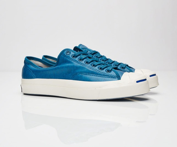 Converse Jack Purcell Signature Coated Blue Terry Low Top Mens Sneaker 153102C