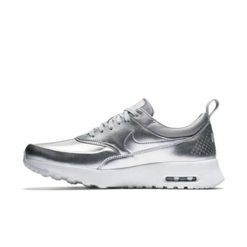Nike Air Max Thea womens sneakers in metallic silver, platinum & white – 25% off