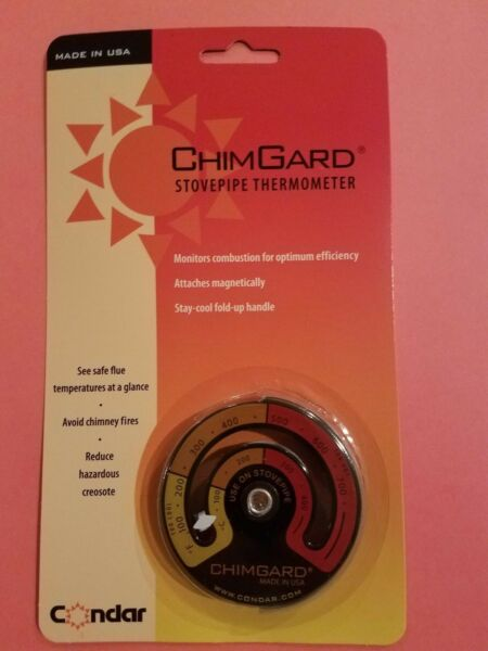 ChimGard Woodstove Thermometer by Condar 3-4