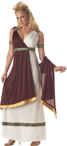 Roman Empress Women Adult Fancy Dress With Attached Drape California Costumes $32.95