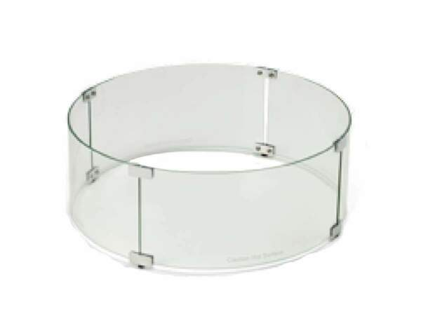 HPC Round Fire Pit Glass Wind Guard 23quot;