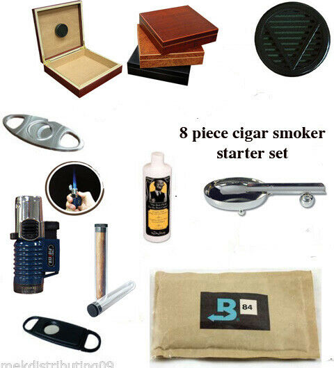 20 ct CIGAR Cherry  HUMIDOR Cutter Dads & Grads Starter/gift Set FREE PRIORITY