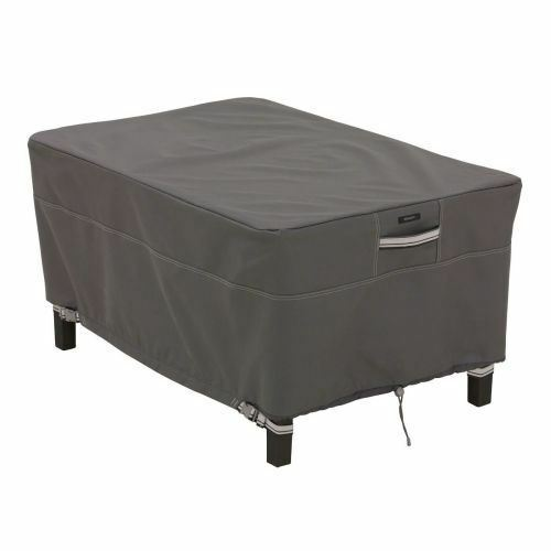 Classic Accessories Ravenna Patio Rectangular Ottoman Side Table Cover Large $58.72