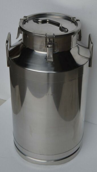 15.8 Gallon Stainless Steel Milk Pail 60L Wine Beer Liquid Storage Farm Supply