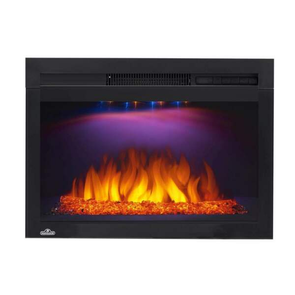 Napoleon NEFB27HG-3A Cinema Glass Series Built-In Electric Fireplace 27 Inch