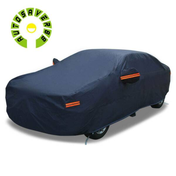 17ft Full Car Cover Waterproof Dust Rain Snow Resistant All Weather Protection