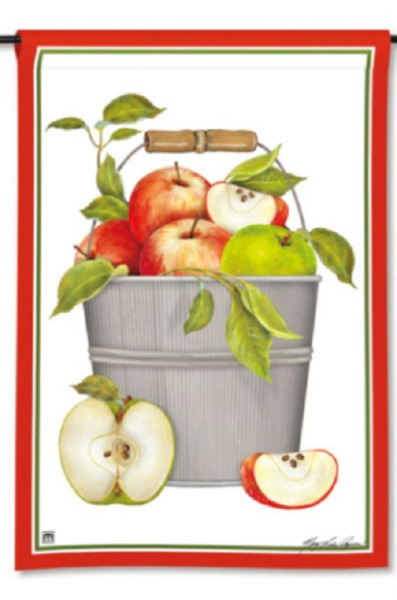 Mary Lake Thompson Design Red & Green Apples in Pail 12.5