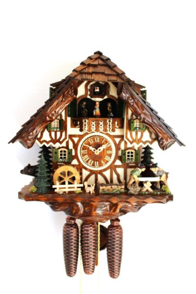 cuckoo clock hettich black forest 8 day music german sawer new