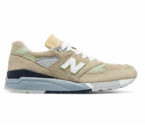 NEW NEW BALANCE M998XAA TAN PIG SUEDE SIZE 13 MADE IN THE USA MSRP $209.99