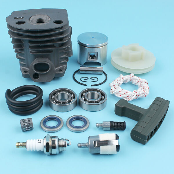 Cylinder Piston Crank Bearing Kit fit Husqvarna 50 51 55 Rancher Chainsaw 46MM