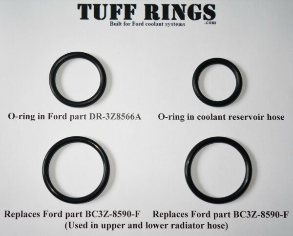 Replacement O-Rings for Ford DR-3Z8566-A, 2x BC3Z-8590-F & Reservoir hose
