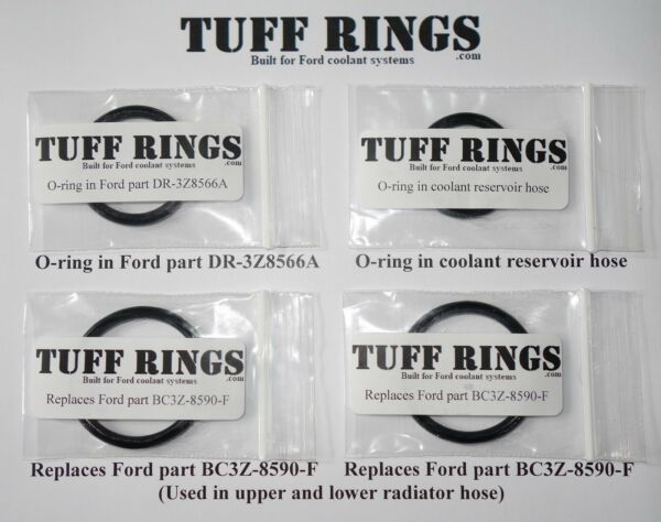 Replacement O-Rings Ford DR3Z8566A, 2x BC3Z-8590-F, & Reservoir hose w/grease