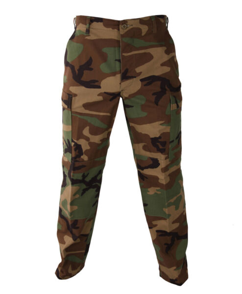 Woodland Camo MENS BDU Cargo Pants Mens Military Camouflage Pants S TO 2X $29.99