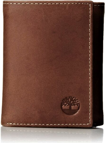 Timberland Men's Hunter Trifold Leather Wallet $19.99