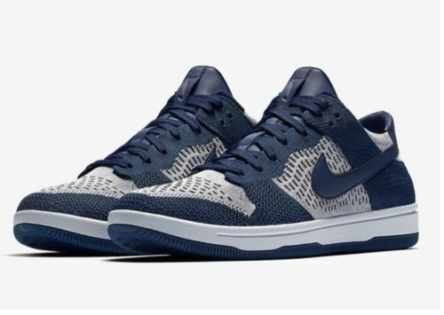 Nike Dunk Flyknit College Navy Wolf Grey Pure Platinum 917746-400 Multi Size