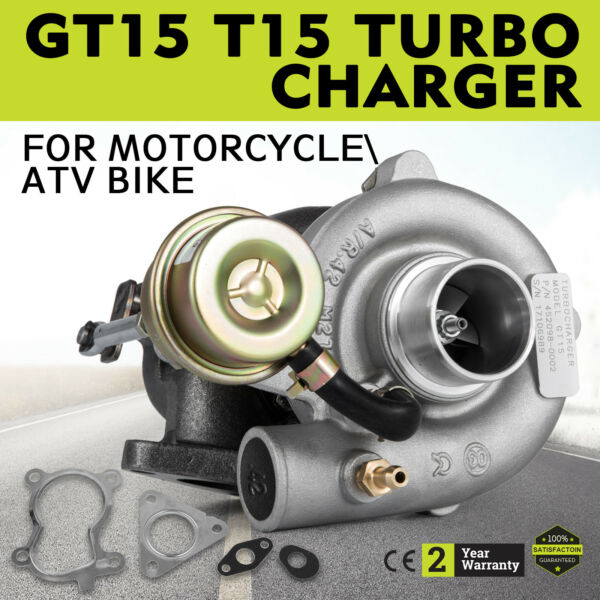 GT15 TURBOCHARGER T15 For ACCORD 2.0 Bike A/R.42 W/WASTEGATE 13PSI Small Engine