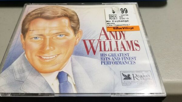 Andy Williams: His Greatest Hits and Finest Performances (Reader's Digest 3cds)