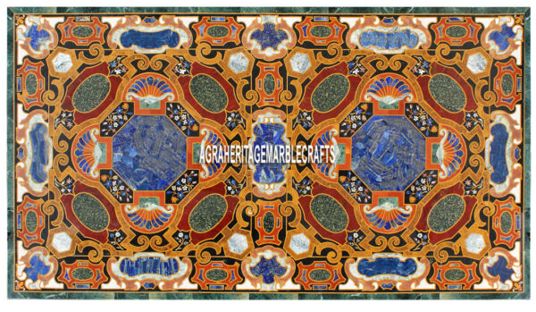 Marvelous Marble Large Center Table Top Collectible Inlay Arts Home Decor H3859