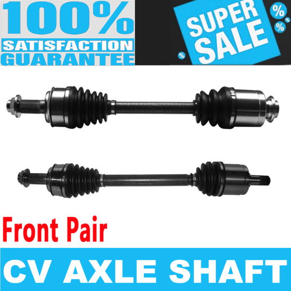 2x Front CV Drive Axle Shaft for ACCORD 08-12 L4 2.4L Automatic Transmission