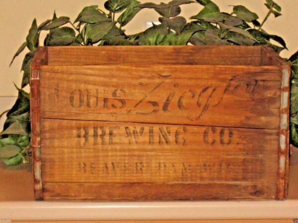 Antique Beer Wood Shipping Crate Louis Ziegler Brewing Beaver Dam Wisconsin WI