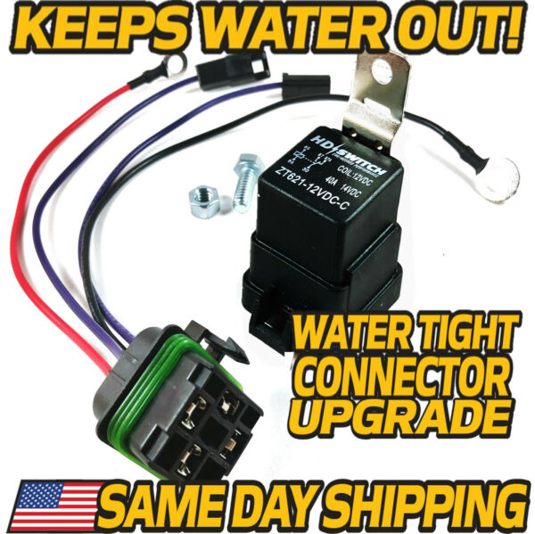 Starter Relay Kit fits John Deere - AM107421 - AM106304 w WATER TIGHT CONNECTOR