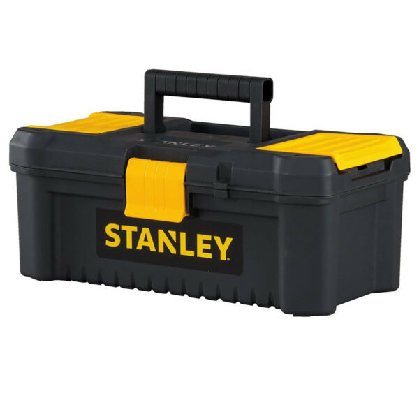 STANLEY PORTABLE TOOL BOX Lockable Small Tools Garage Storage Organizer Black