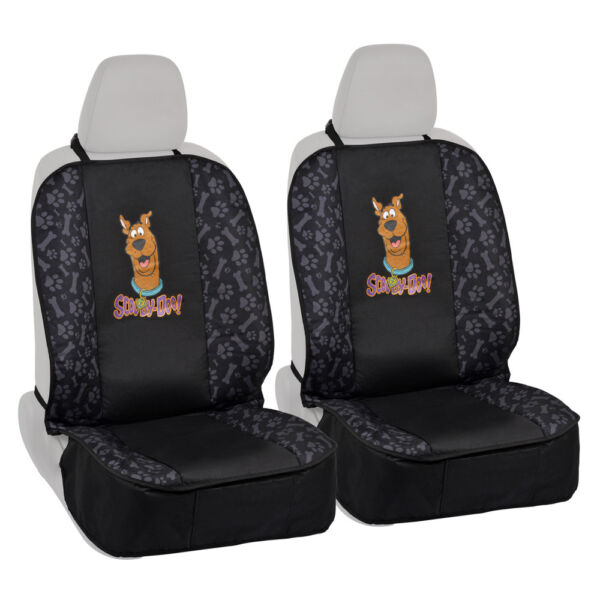 Seat Covers for Pet Dogs 2 Front Seat Protectors Scooby Doo w Paws n Bones $29.50