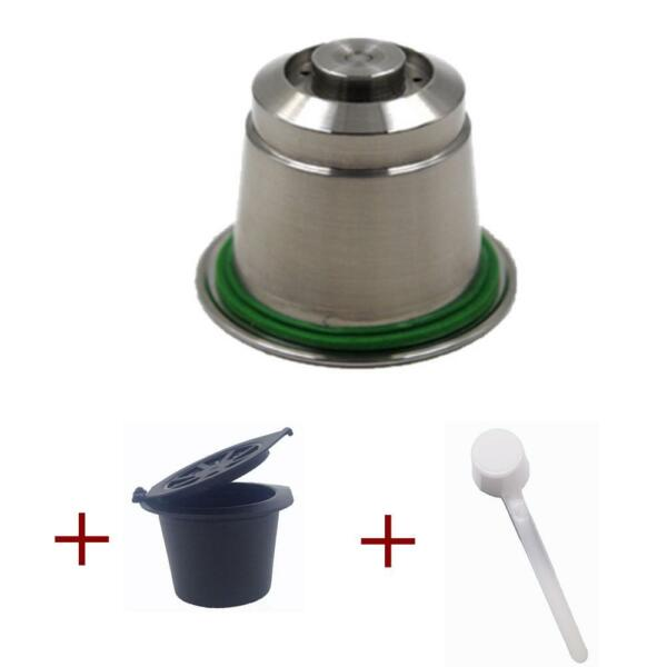 Stainless Steel Metal Refillable Nespresso Coffee Capsule Reusable Refills Pods