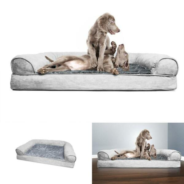 Styles Soft amp; Ultra Plush Velvet Orthopedic Dog Couch Sofa Bed For Dogs And Cats $79.77