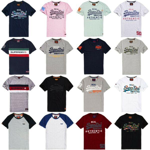 Superdry T-Shirts - Superdry Classic Graphic Tees - Premium Goods Vintage Logo