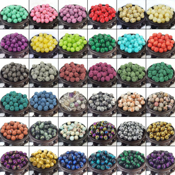 Bulk Gemstones II natural spacer stone beads 4mm 6mm 8mm 10mm 12mm jewelry DIY