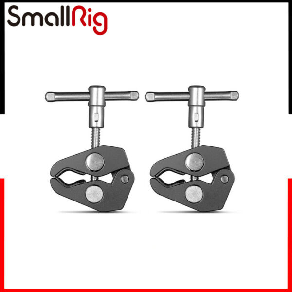 SmallRig 2pcs Super Clamp with 1 4quot; and 3 8quot; Thread DIY Mount For 15 44mm Rods $8.91