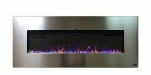 Touchstone 80024 AudioFlare Stainless Recessed Electric Fireplace 50