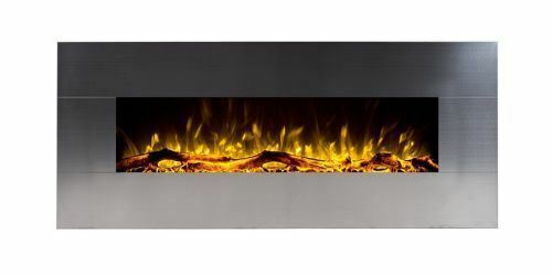Touchstone 80026 Onyx Stainless Wall Mounted Electric Fireplace - 50