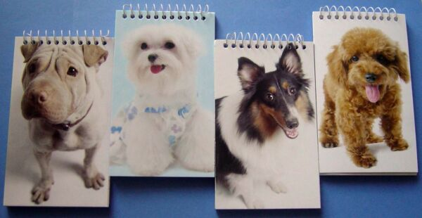 Spiral Memo Books Pads with Dog Covers 14 4pks New amp; Sealed Lot of 56 3quot;x5quot; $24.50