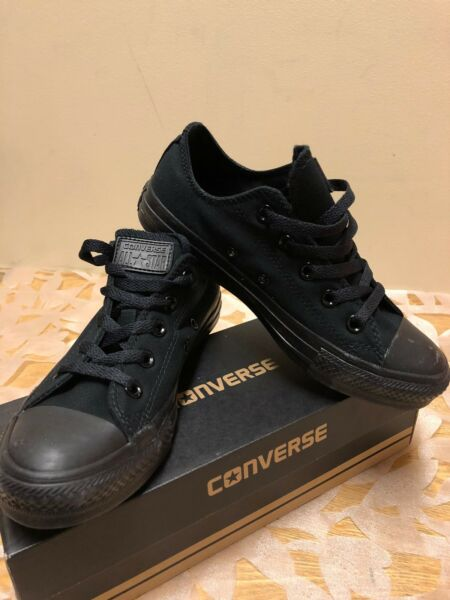 Men's Converse C Taylor A/S Ox Black Monoch Low Tops Brand New in Original Box