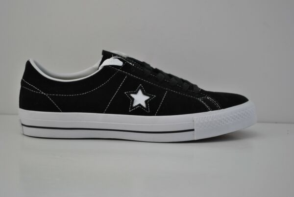 Mens Converse One Star Suede Ox Skateboard Shoes Size 9 - 13 Black White 149908C