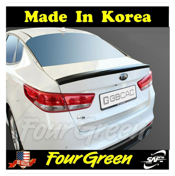 Rear Trunk Wing Lip Spoiler Space for Kia All New Optima 2016 2019 White $57.90