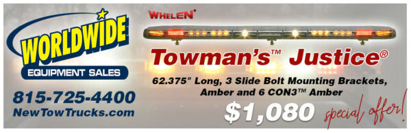 whelen justice led light bar for tow trucks wrecker jerr dan
