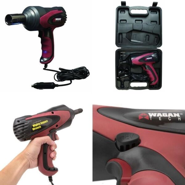 Premium 1 2quot; Electric Impact Wrench Gun Kit 12V with Sockets and Case Power Tool