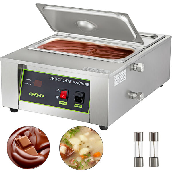 Commercial Electric Home Chocolate Heater Melter Melting Pot Machine 17.6lbs $151.99